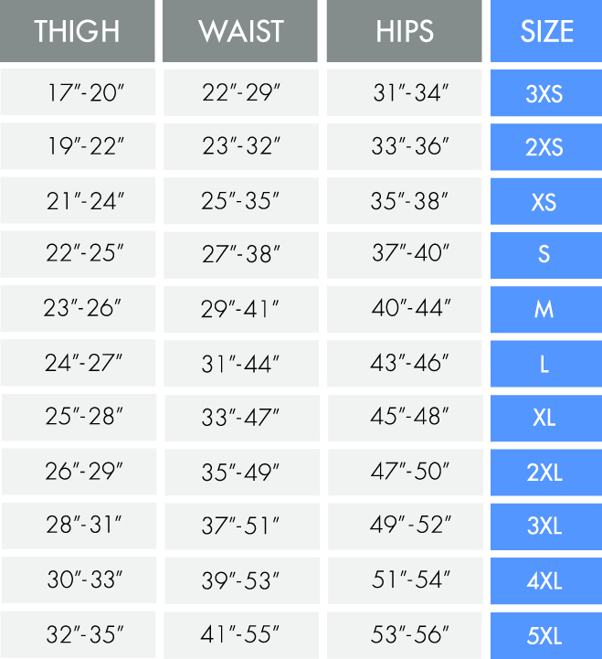 Pull On Incontinence Pant Size Guide